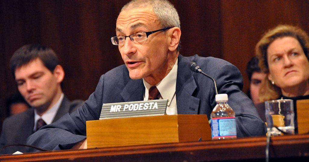 John Podesta before the U.S.Senate